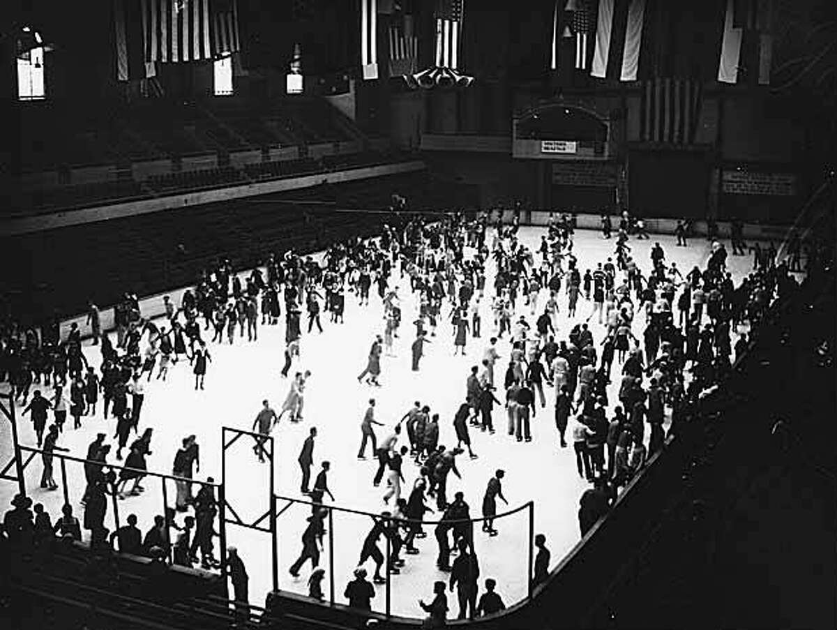 Ice skaters at Civic Arena in what is now Seattle Center in 1931.