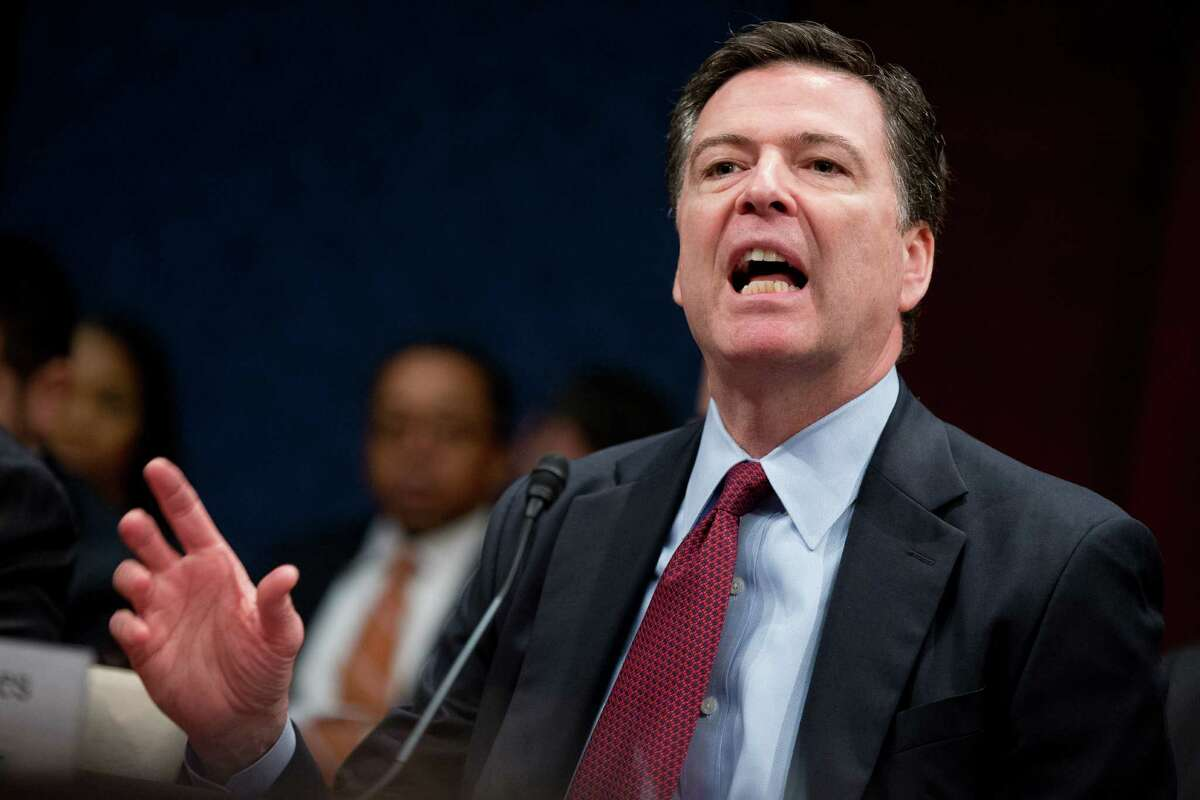 FBI Director James Comey speaks at a House Intelligence Committee hearing on world wide threats on Capitol Hill in Washington, Thursday, Feb. 25, 2016. Comey says the issues raised in the Justice Department's dispute with Apple Inc. represent the