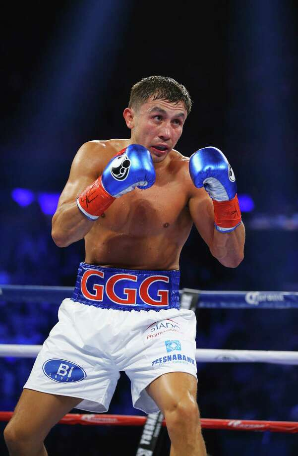 NEW YORK, NY - OCTOBER 17:  Gennady Golovkin fights  David Lemieux during their WBA/WBC interim/IBF middleweight title unification bout at Madison Square Garden on October 17, 2015 in New York City.  (Photo by Al Bello/Getty Images) ORG XMIT: 567656971 Photo: Al Bello / 2015 Getty Images