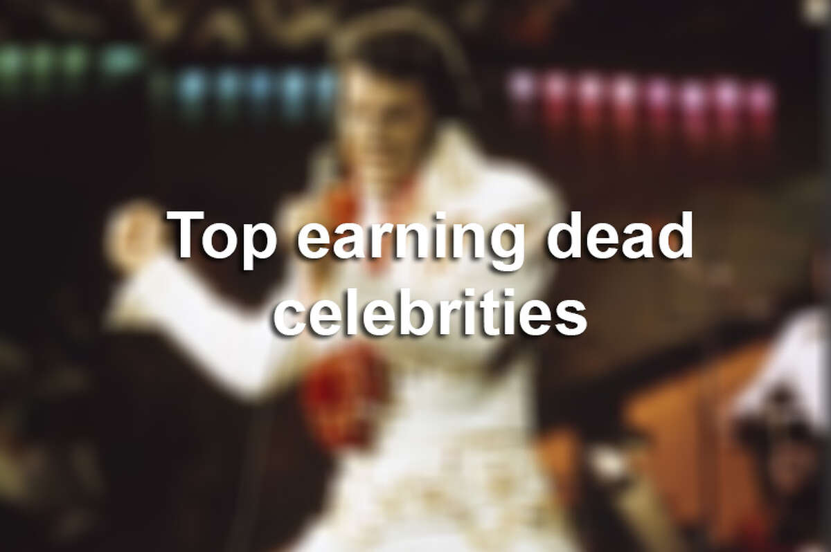 Top earning dead celebrities according to Forbes.