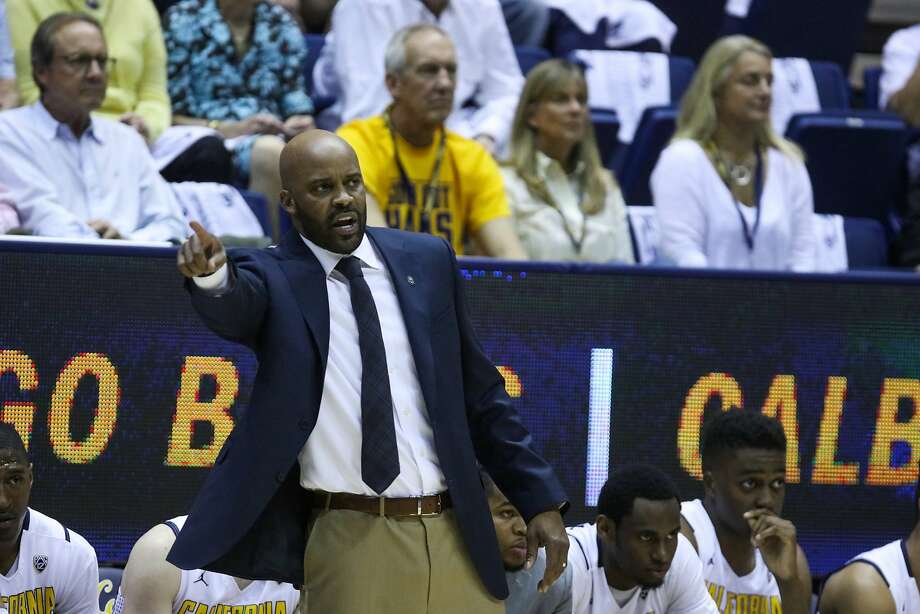 California Golden Bears head coach Cuonzo Martin coaches from the sidelines during the first half of a game between the California Golden Bears and UCLA Bruins, at Haas Pavilion, in Berkeley, California on Thursday, February 25, 2016. Photo: Gabrielle Lurie