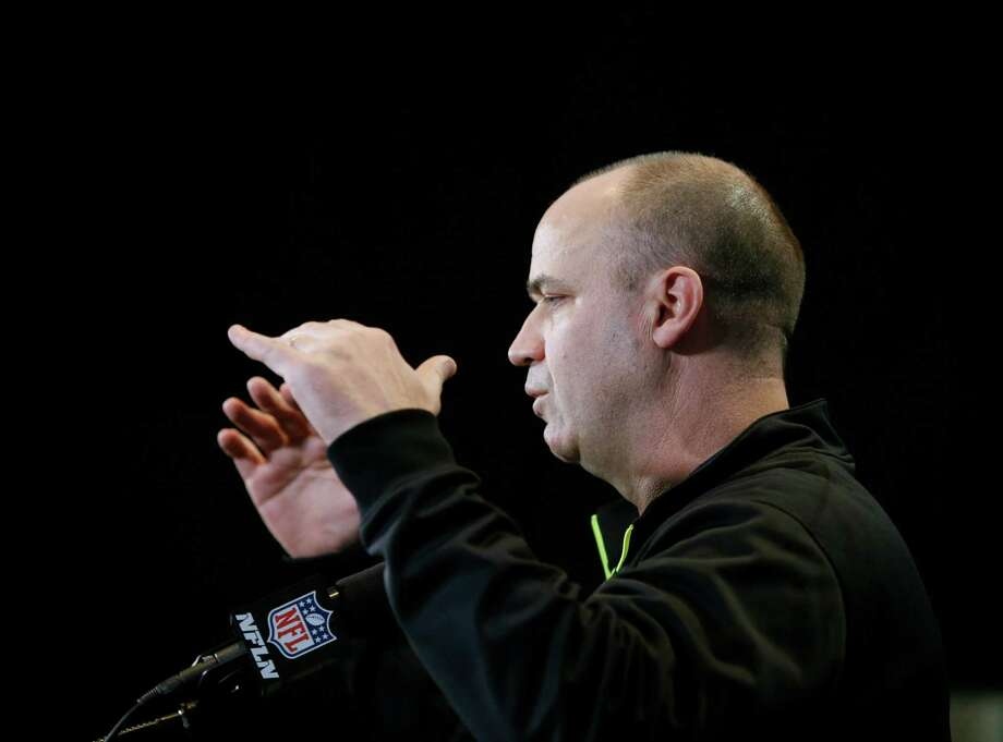 Coach Bill O'Brien is on the Texans' hot seat to draft a quarterback who will be the face of the franchise for years to come. Photo: Darron Cummings, STF / AP