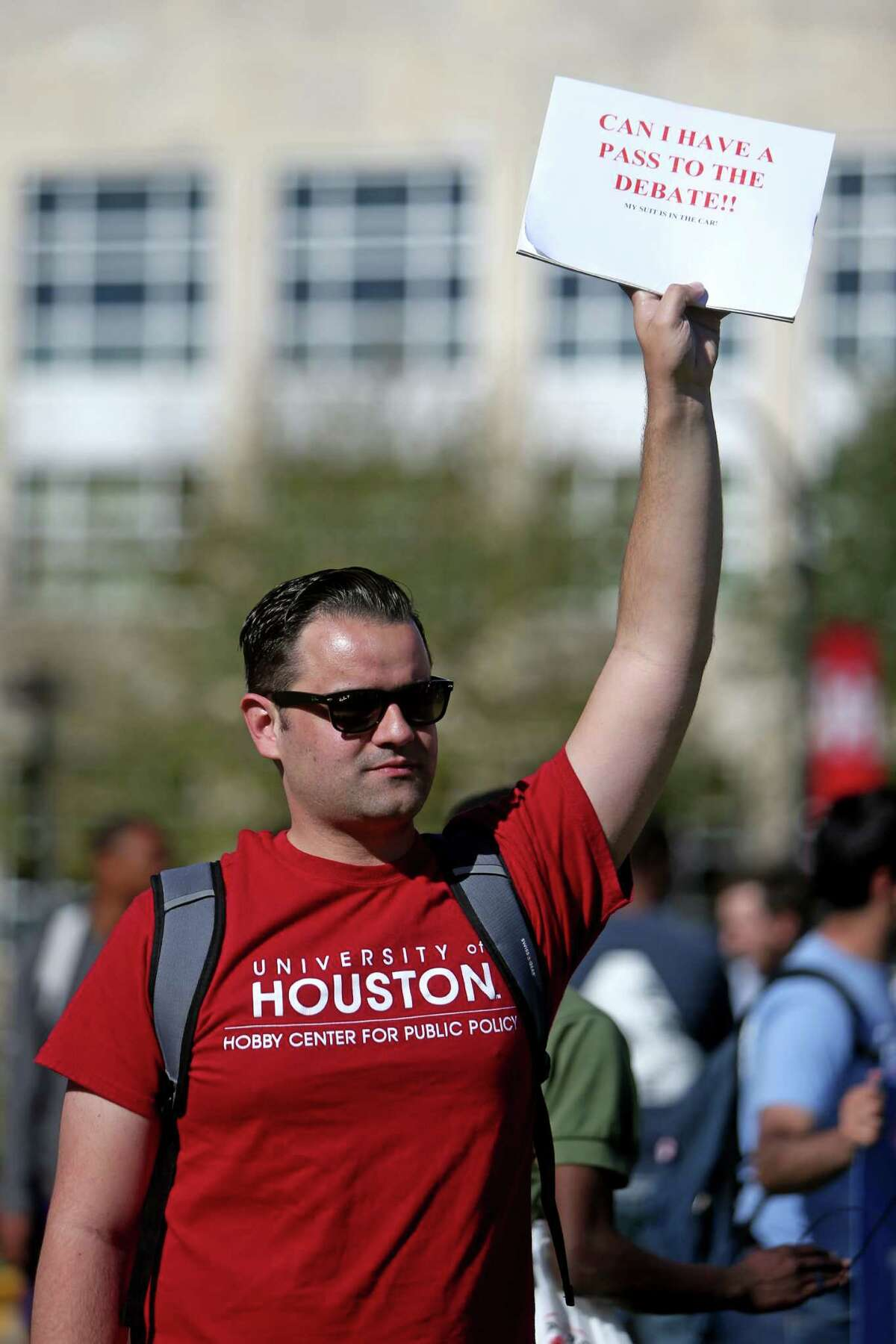 University of Houston student Fred Martins, 29, was one of thousands unable to attend the debate. The school was given 25 tickets for staff and students.
