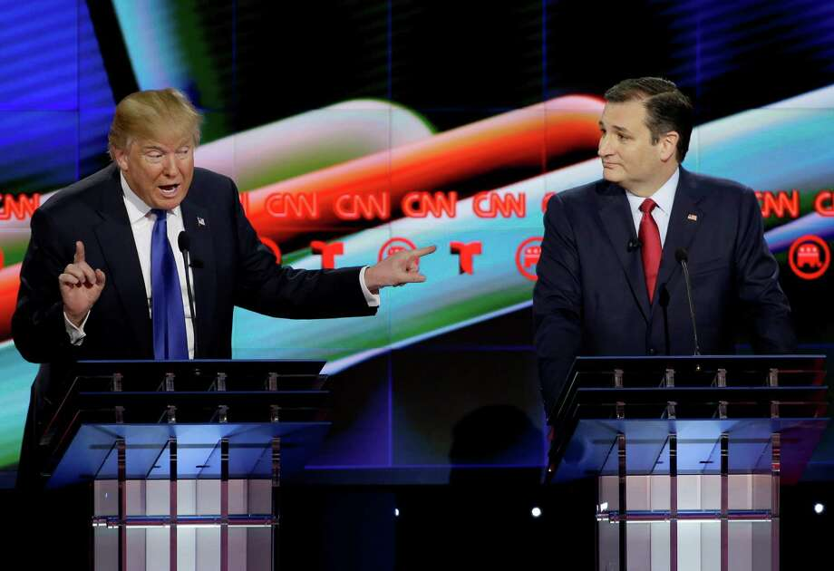 """Speaking on ABC's """"This Week"""" on SUnday morning, Texas Sen. Ted Cruz questioned whether Donald Trump's tax returns contained information linking the billionaire mogul to organized crime. Photo: David J. Phillip, STF / AP"""