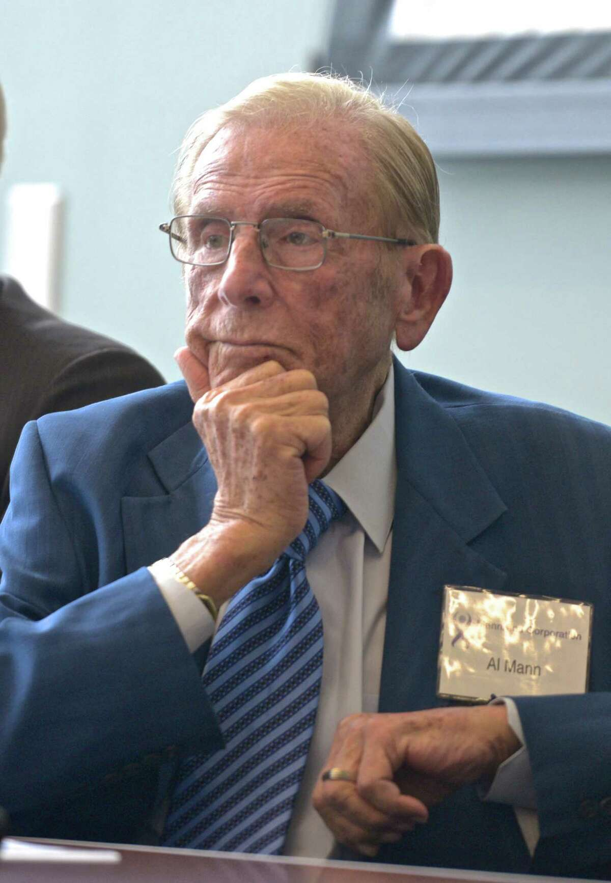 Alfred Mann, founder of MannKind Corporation during the companies annual stockholders meeting on Thursday, May 21, 2015, in Danbury, Conn. Mann died at age 90 in Las Vegas on Thursday, Feb. 25, 2016.