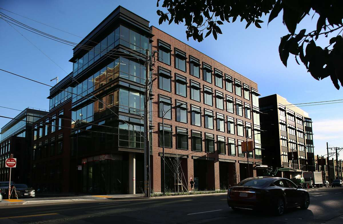 A view of 333 Brannan St.(left corner) and 345 Brannan St. (right corner) in San Francisco, California, on Thursday, February 25, 2016.