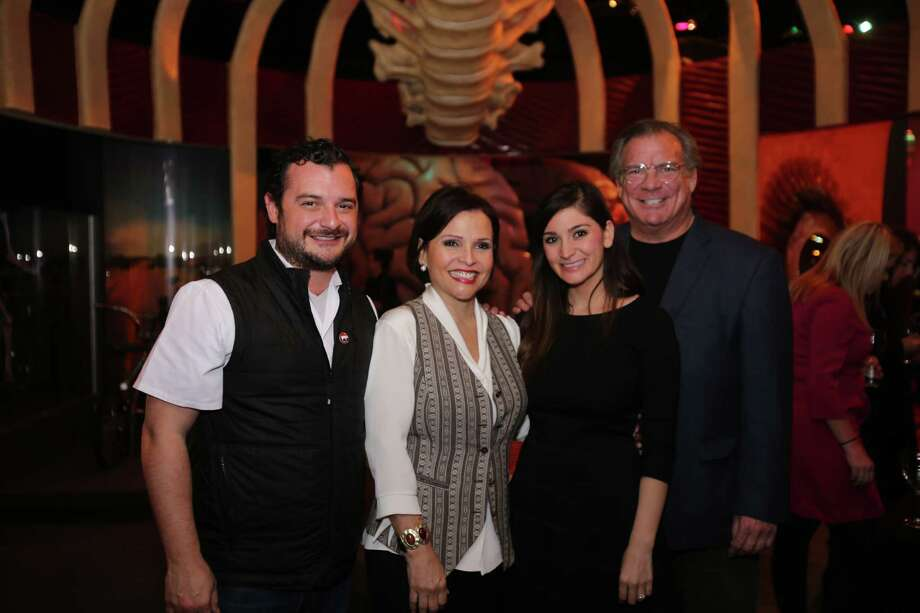 "David Cordua, Lucia Cordua, Sylia Gallegos, and Michael Cordua at The Health Museum's fourth annual ""Cheers to Your Health"" food and wine pairing Photo: Amber Elliott, Houston Chronicle / © 2016  Houston Chronicle"