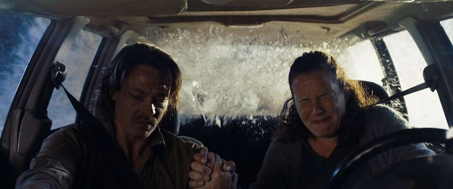"Kristoffer Joner (left) foresees the disaster in ""The Wave."" Photo: Magnolia Pictures"