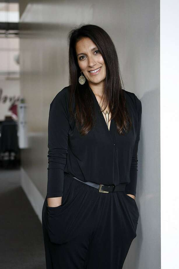 Sukhinder Singh Cassidy, founder of the online video shopping website Joyus.com, poses for a portrait with fashion photographer Nigel Barker at the company's offices in San Francisco, CA Tuesday, October 29, 2013. Photo: Michael Short, The Chronicle