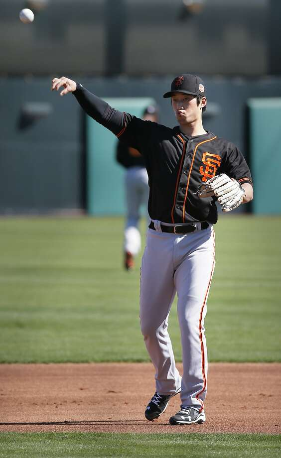 Infielder Hak-Ju Lee, 80 during workouts at San Francisco Giants spring training as they prepare for the 2016 season, at Scottsdale Stadium on Friday February 26, 2016 in Scottsdale, Arizona. Photo: Michael Macor, The Chronicle