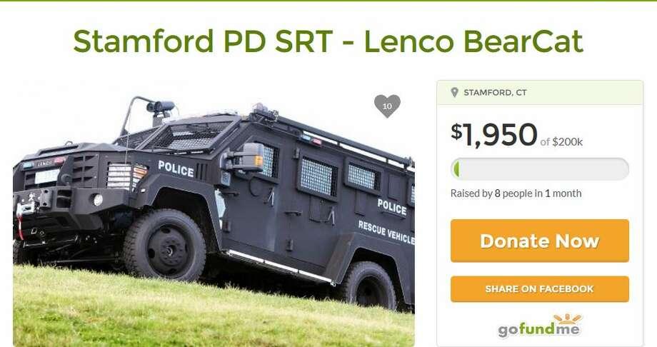 Stamford Police Department's gofundme page. Photo: Pignataro, Michael