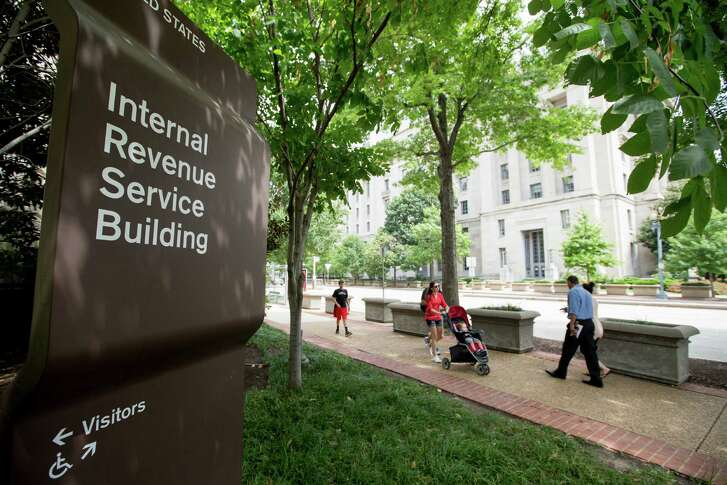 The Internal Revenue Service Building in Washington. (AP Photo/Andrew Harnik)