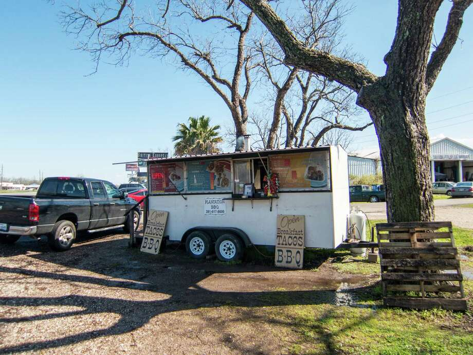 Plantation BBQ trailer in Richmond makes tacos with brisket, spices and homemade tortillas. Photo: J.C. Reid / J.C. Reid