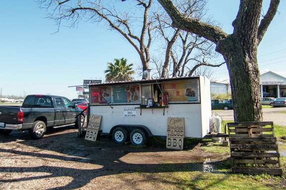 Plantation BBQ trailer in Richmond makes tacos with brisket, spices and homemade tortillas.