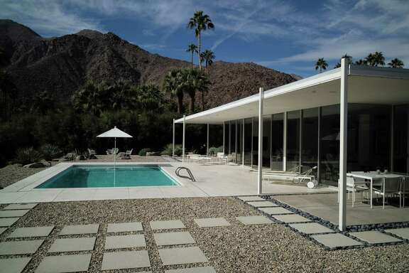Zoning laws in Palm Springs, Calif., restrict residential building heights to one story, ensuring privacy.