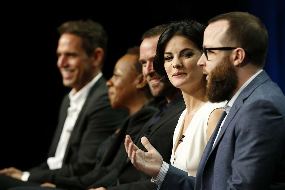 """Blindspot,"" which stars Jaimie Alexander (second from right), will include interviews in some advertising spots Monday night. Photo: Nbc, Ben Cohen/NBCUniversal"