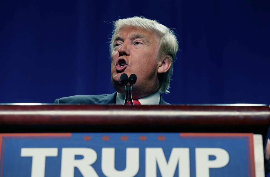 Republican presidential candidate Donald Trump speaks in Fort Worth on Friday. (AP Photo/LM Otero, File) Photo: LM Otero, STF / AP