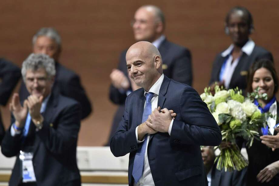 New FIFA president Gianni Infantino reacts after winning the FIFA presidential election during the extraordinary FIFA Congress in Zurich on February 26, 2016. AFP PHOTO / FABRICE COFFRINIFABRICE COFFRINI/AFP/Getty Images Photo: FABRICE COFFRINI / AFP