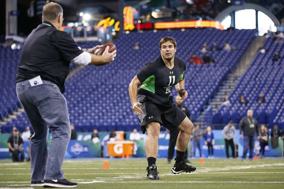Jack Conklin is one of a handful of players who came out of high school with little to no notice and now will likely be frist-round draft picks. Photo: Joe Robbins, Getty Images
