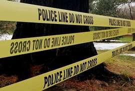 Stock image of police crime tape