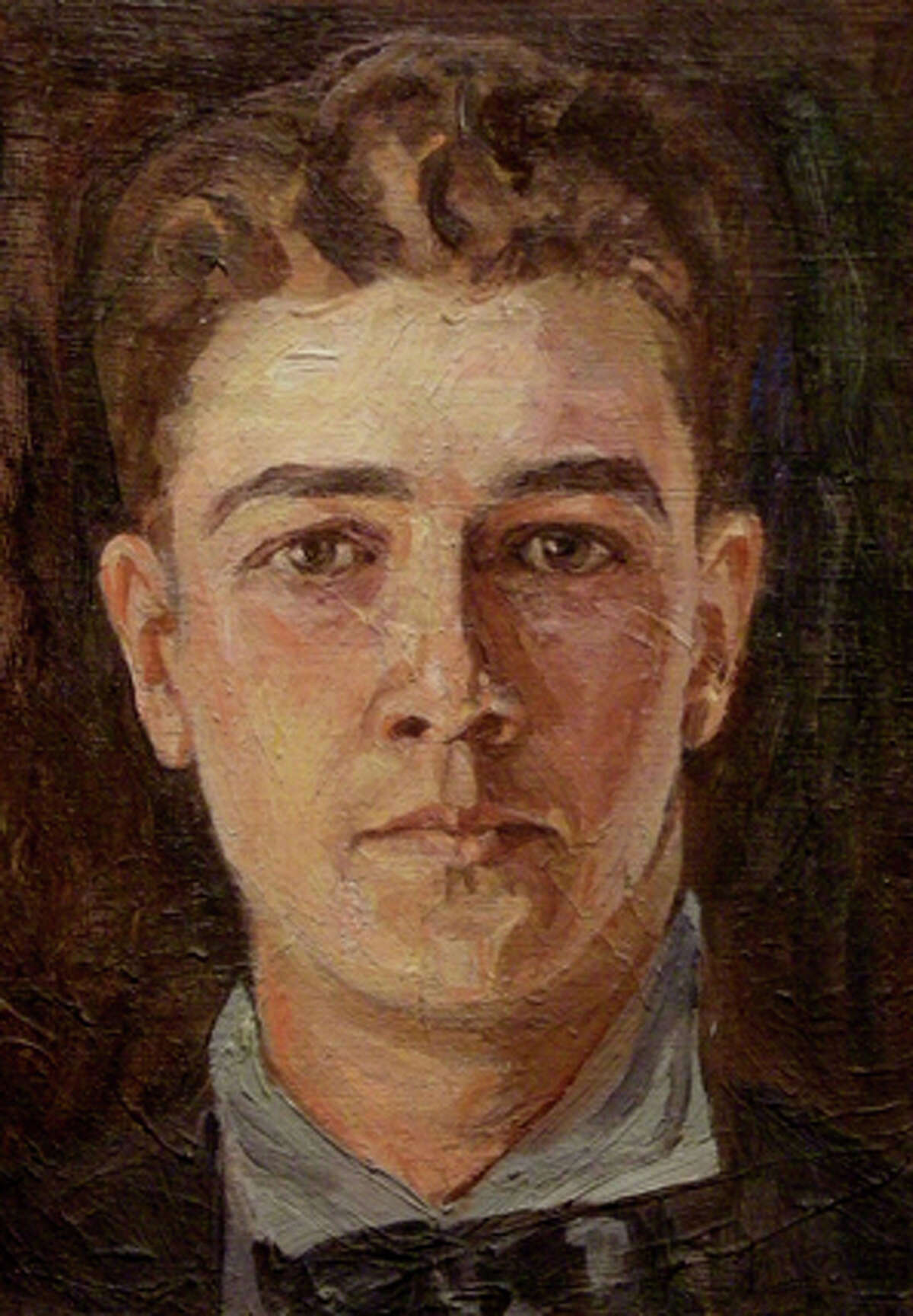 Pioneering Texas painter Harold Bugbee painted this self-portrait when he was a young man.
