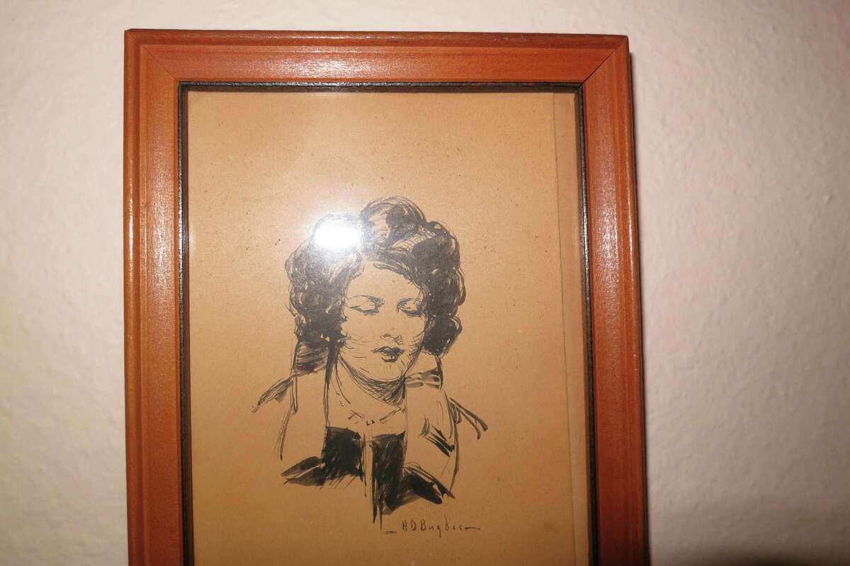 Bugbee sketched Dorothy Carroll, the love of his life, whom he could never marry.