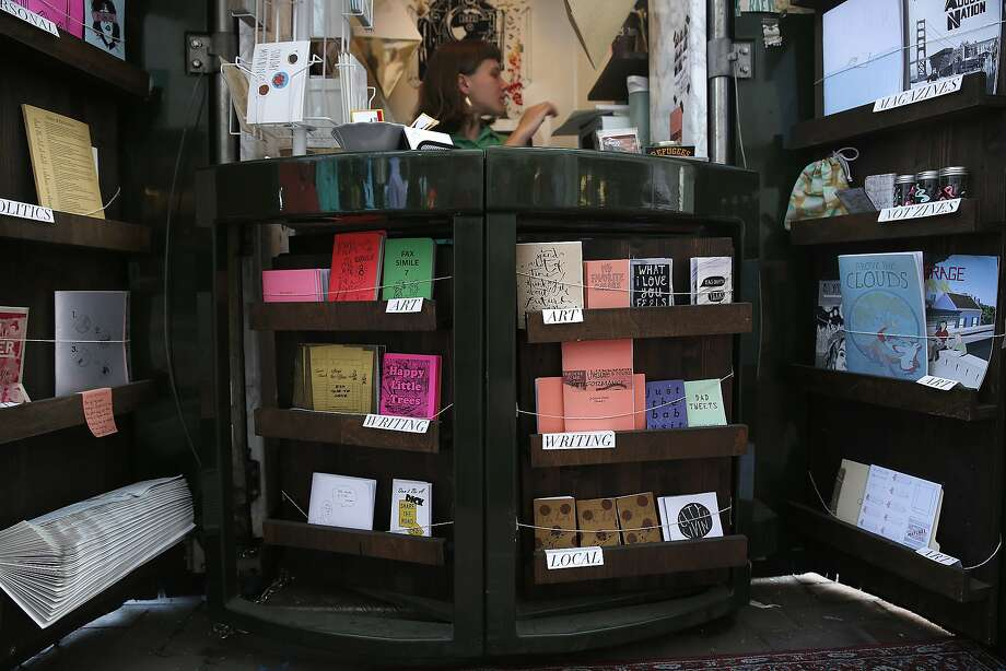Literature displayed at The Grand Newsstand in San Francisco, California, on Thursday, February 25, 2016.  The newsstand on Market St., closest to the ferry building, sells Zines and independent publications . Photo: Liz Hafalia, San Francisco Chronicle