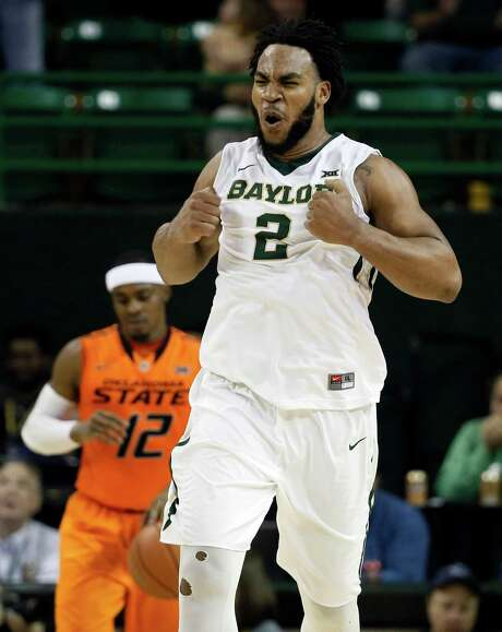 Once his basketball season is over at Baylor, senior forward Rico Gathers will start honing his tight end skills in the hopes of becoming one in the NFL. Photo: Tony Gutierrez, STF / AP