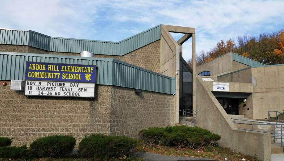 Entrance to Arbor Hill Elementary School Friday morning, Nov.19, 2010, in Albany, N.Y.  (John Carl D'Annibale / Times Union archive) Photo: John Carl D'Annibale / 00011114A