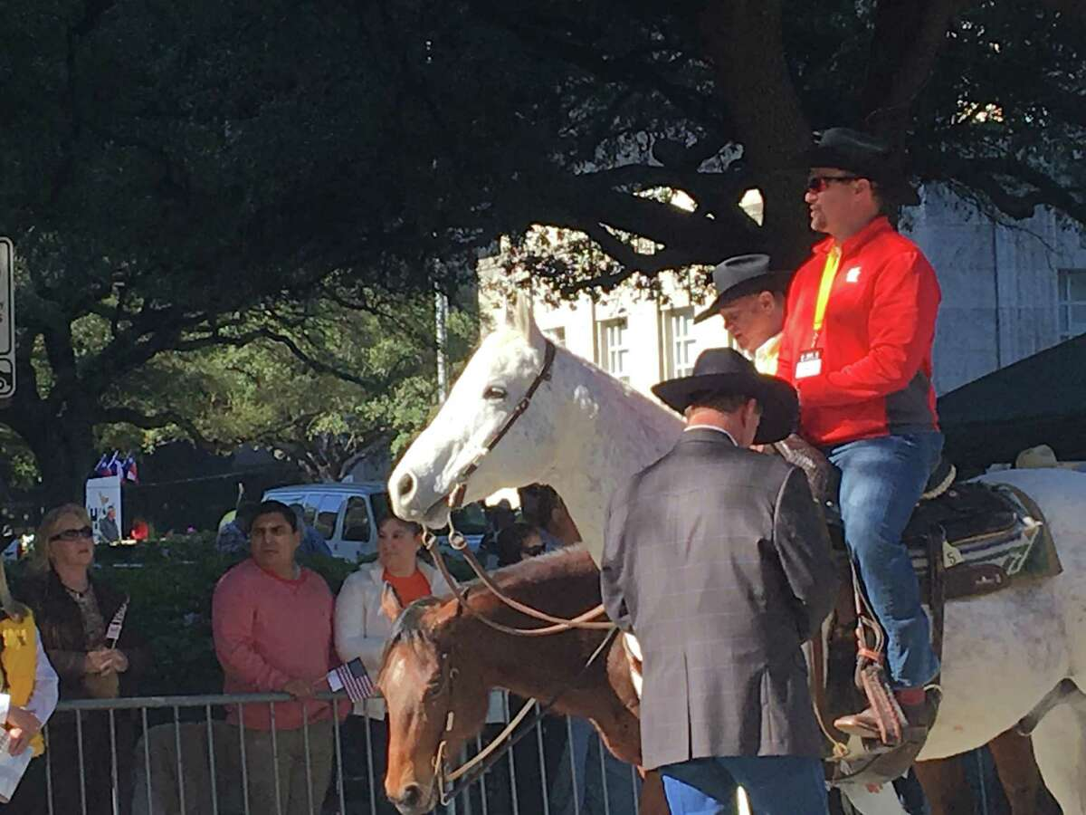 Tom Herman at The Houston Rodeo Parade