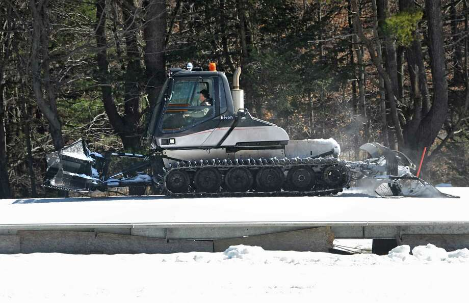 Owner Chic Wilson operates the groomer to get the slopes ready for skiers at Willard Mountain on Friday, Feb. 26, 2016 in Greenwich, N.Y. (Lori Van Buren / Times Union) Photo: Lori Van Buren / 10035594A