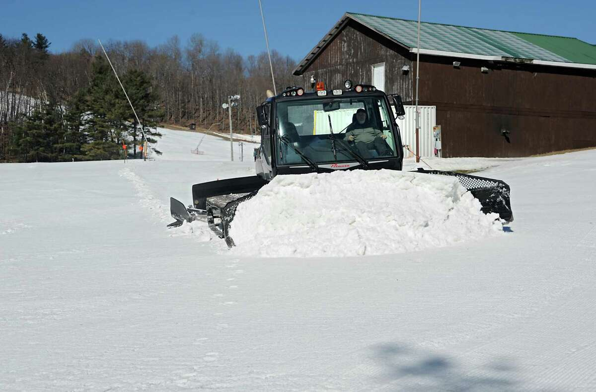 Owner Chic Wilson operates the groomer to get the slopes ready for skiers at Willard Mountain on Friday, Feb. 26, 2016 in Greenwich, N.Y. (Lori Van Buren / Times Union)