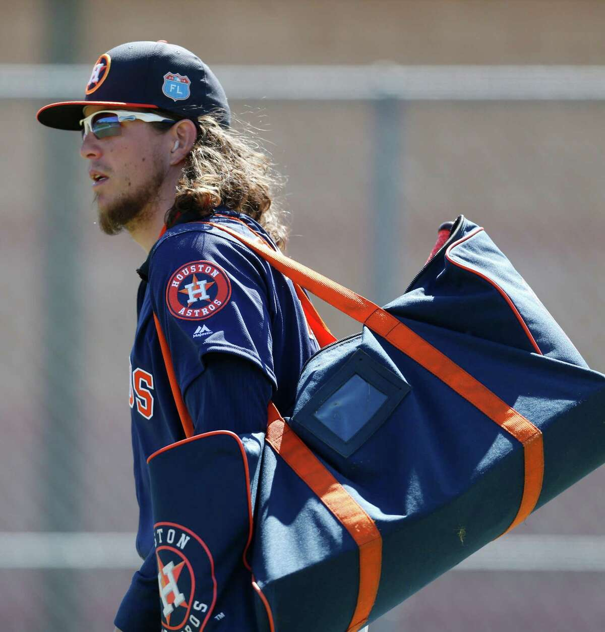 Houston Astros outfielder Colby Rasmus at the Astros spring training in Kissimmee, Florida, Saturday, Feb. 27, 2016.