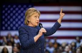 Democratic presidential candidate, Hillary Clinton speaks at a campaign event at Miles College Saturday, Feb. 27, 2016, in Fairfield, Ala. (AP Photo/David Goldman)