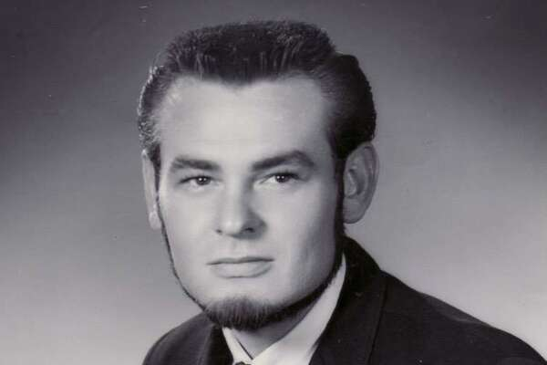 Bruce Hathaway in his early rock-and-roll radio days in San Antonio.