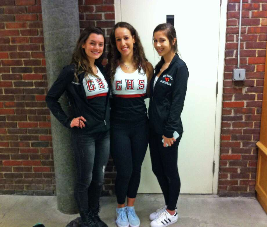From left to right, Emily Graffeo, Megan Plancher and Alana Elliott are the captains of the Greenwich High School dance team. Feb. 2016 Photo: Contributed Photo / Contributed Photo / Greenwich Time Contributed