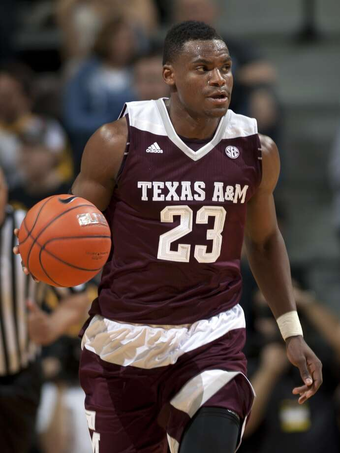 Texas A&M's Danuel House brings the ball down the court during the second half of an NCAA college basketball game against Missouri Saturday, Feb. 27, 2016, in Columbia, Mo. Texas A&M won 84-69. (Nick Schnelle/Columbia Daily Tribune via AP) Photo: Nick Schnelle, Associated Press / Columbia Daily Tribune