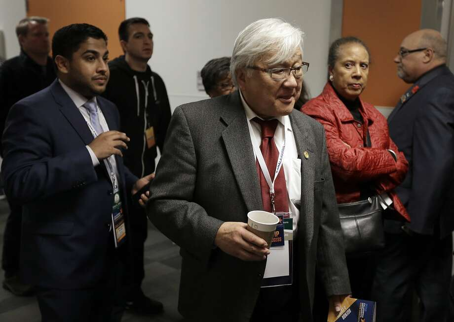 Rep. Mike Honda, D-San Jose, was unhappy with his opponent's allegations that the voting process is rigged. Photo: Ben Margot, Associated Press