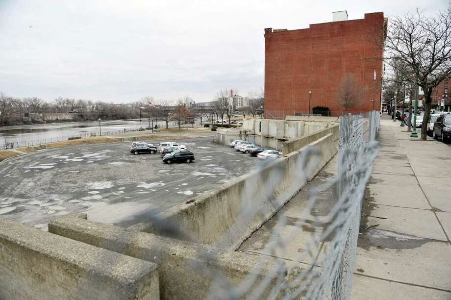 A view of the location where Troy City Hall once stood on River Street, seen here on Wednesday, Feb. 17, 2016, in Troy, N.Y.      (Paul Buckowski / Times Union) Photo: PAUL BUCKOWSKI / 10035466A