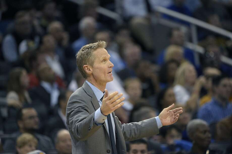 "Warriors head coach Steve Kerr is ""amused"" by all the trash talk from players from other eras. Photo: Phelan M. Ebenhack, Associated Press"