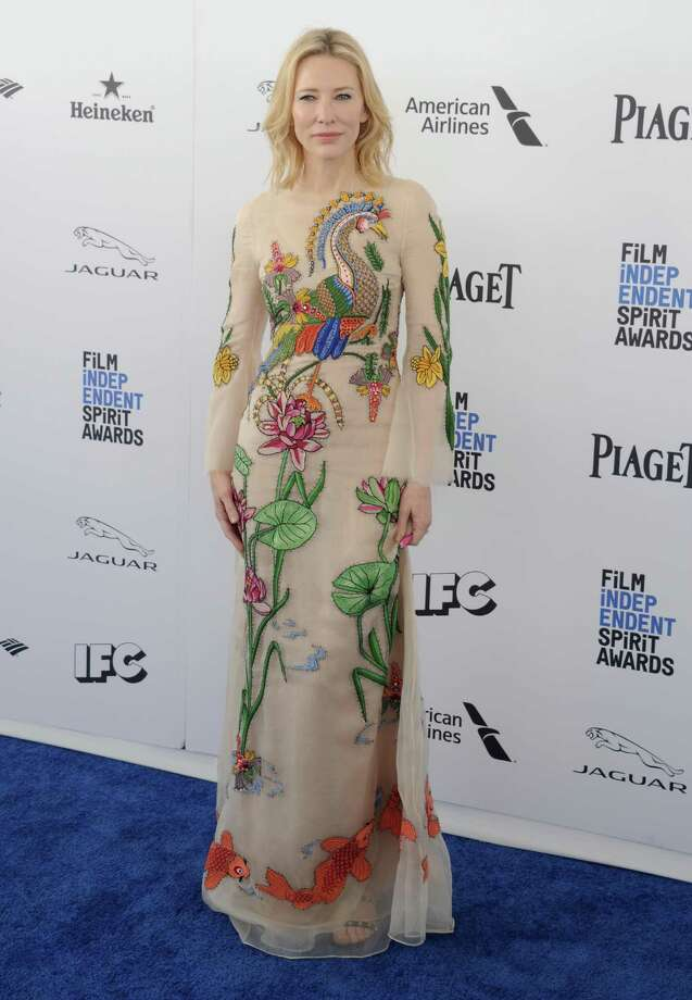 Actress Cate Blanchett attends the 2016 Film Independent Spirit Awards in Santa Monica, California, on Feb. 27, 2016. Photo: Gregg DeGuire, Getty Images / 2016 Gregg DeGuire