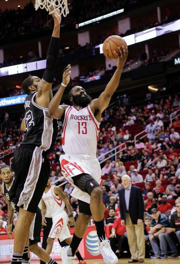 Rockets guard James Harden had 27 points on 10-for-25 shooting. Photo: Bob Levey, FRE / FR156786 AP