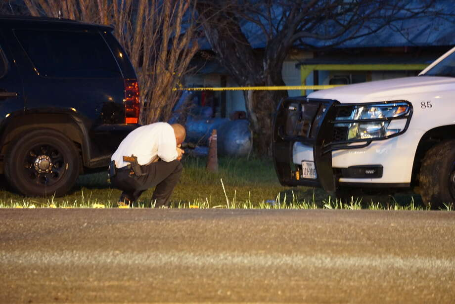 Wilson County Sheriff Joe Tackitt said the chase began around 9 a.m. when the man stole the truck from a home on County Road 150 just inside Wilson County. The man found a handgun inside the truck and eventually opened fire on deputies. Photo: Jacob Beltran/San Antonio Express-News
