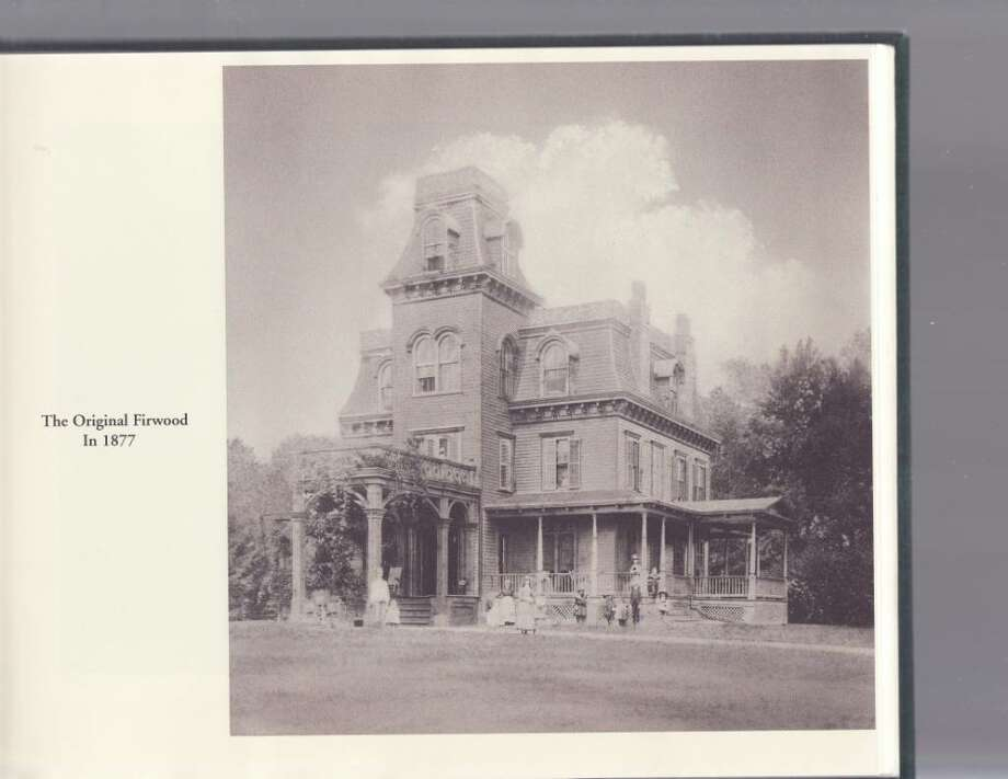 This photo shows the Firwood Mansion as it stood in 1877, before John D. Crimmins' renovations. Photo: Contributed Photo / Darien News
