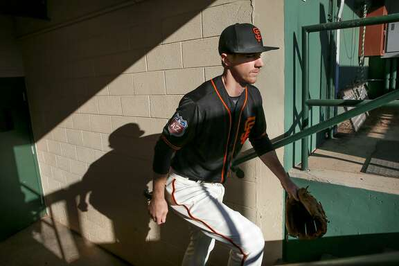 Matt Duffy, 5 during media photo day for the San Francisco Giants at Scottsdale Stadium on Sunday February 28, 2016, in Scottsdale, Arizona.