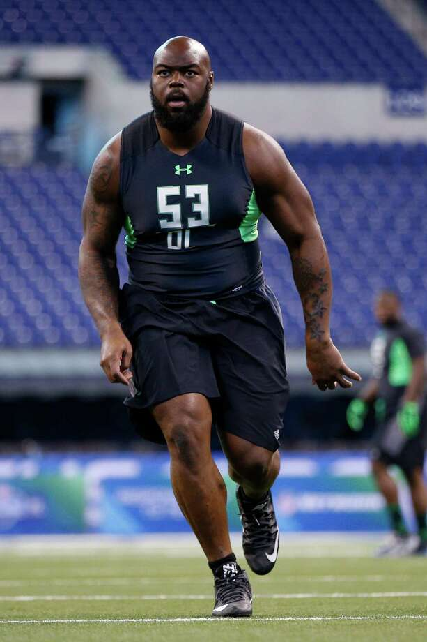 INDIANAPOLIS, IN - FEBRUARY 28: Defensive lineman A'Shawn Robinson of Alabama participates in a drill during the 2016 NFL Scouting Combine at Lucas Oil Stadium on February 28, 2016 in Indianapolis, Indiana. Photo: Joe Robbins, Getty Images / 2016 Getty Images