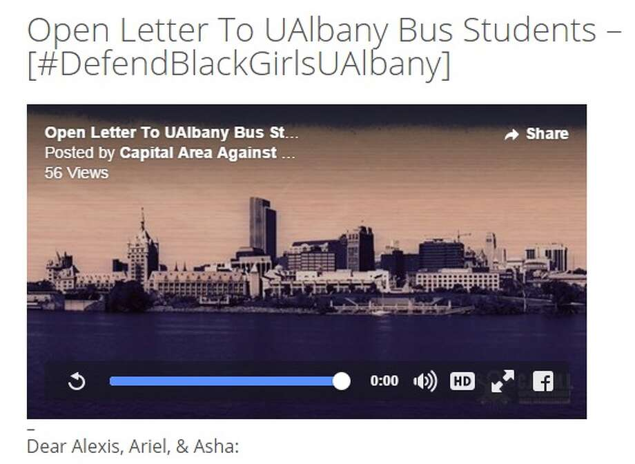 Capital Area Against Mass Incarceration and the People of Color Caucus issued a letter Sunday affirming their support for the three women at the heart of the UAlbany bus incident.