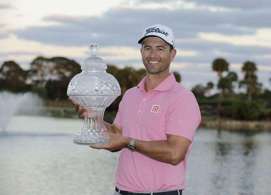 Adam Scott (left) beat Sergio Garcia by one shot in Palm Beach Gardens. Photo: Lynne Sladky, Associated Press
