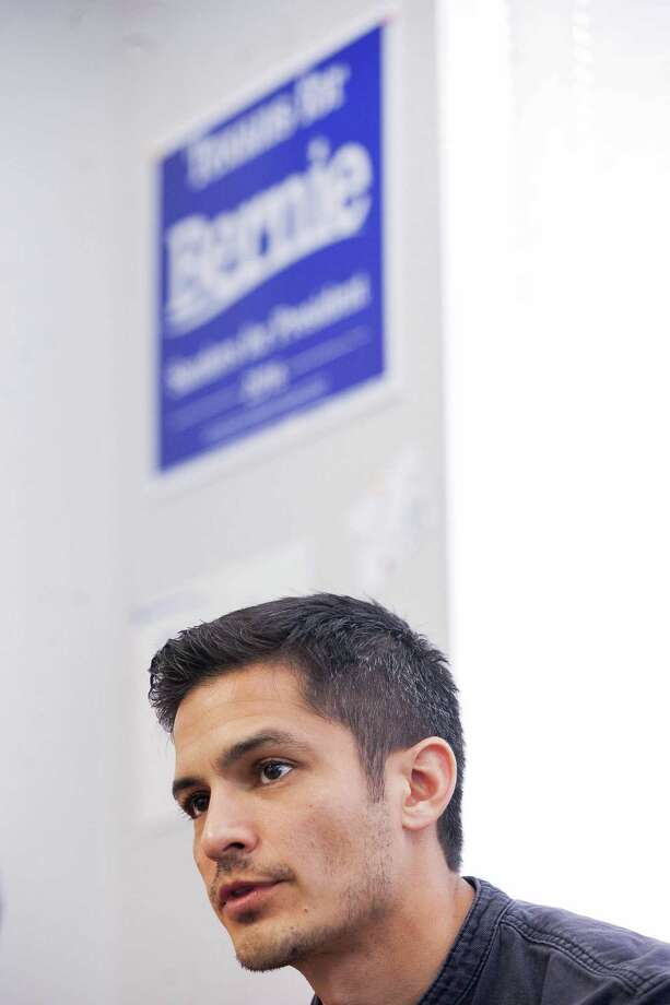 Portrait of Nicholas Gonzalez, San Antonio actor campaigning for Bernie Sanders, Sunday Feb. 28, 2016 at the Bexar County Democratic Headquarters. Photo: Julysa Sosa/ For The San Antonio / Julysa Sosa/ For the San Antonio Express-News