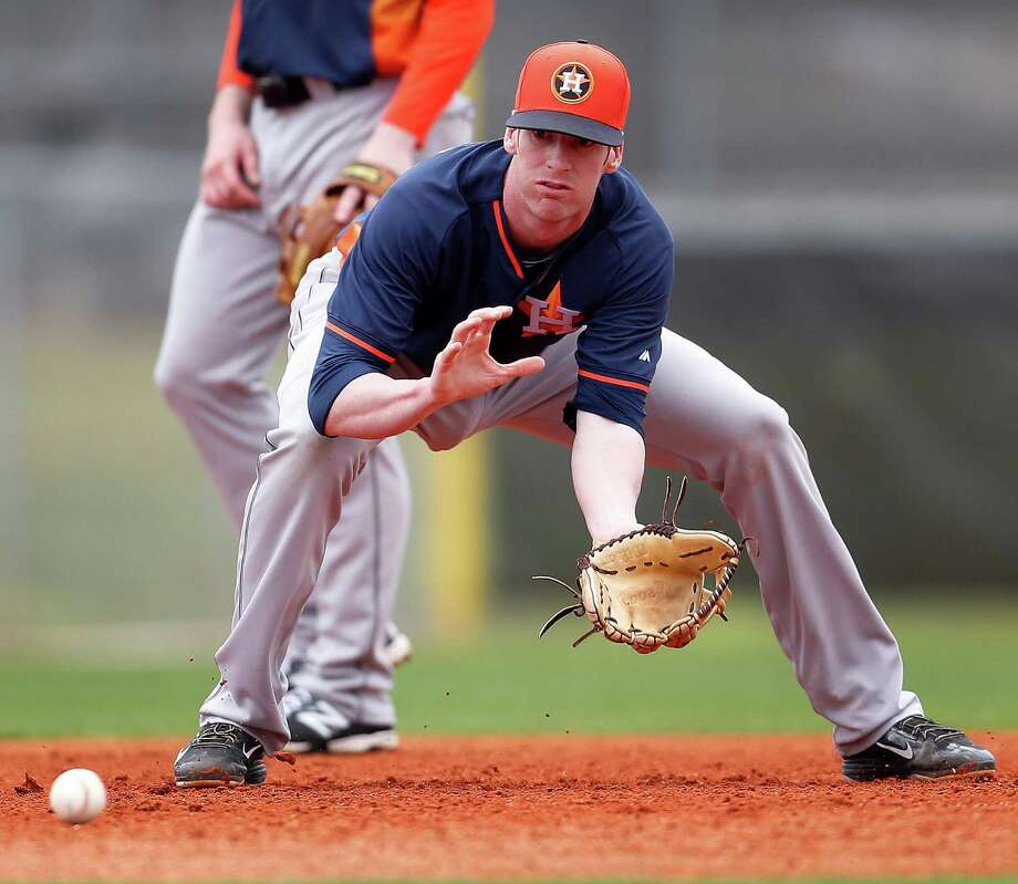 Acquired by the Astros in the 2014 trade that sent pitcher Jarred Costart to the Marlins, third baseman Colin Moran was the sixth overall pick in the 2013 draft. Photo: Karen Warren, Staff / © 2015 Houston Chronicle